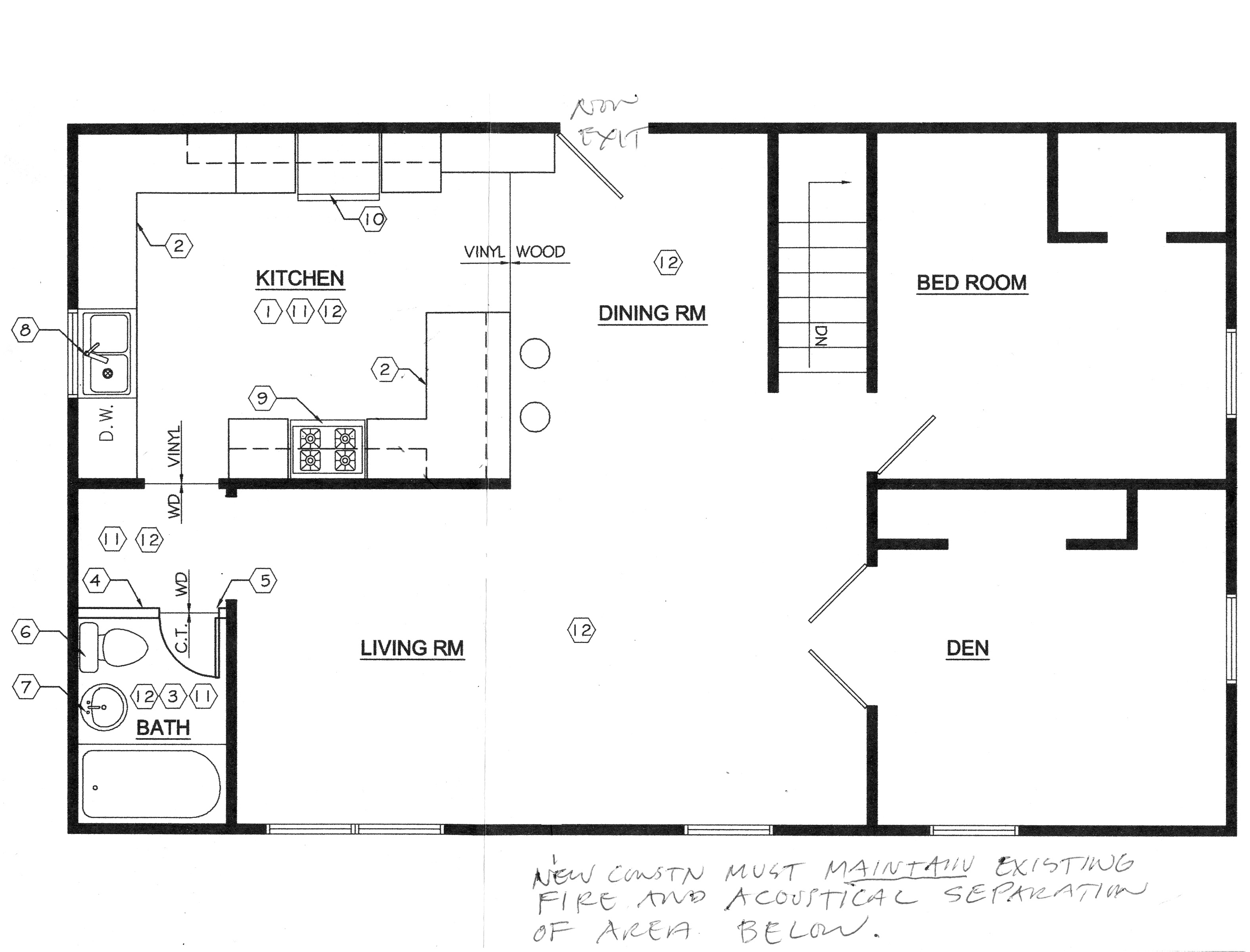 Floor plans this odd house - Small kitchen floor plans ...